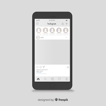 Iphone上のinstagramの投稿テンプレート