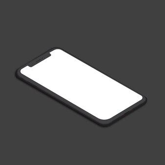Iphone x右モックアップベクトル