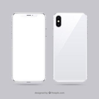 Iphone x with white screen