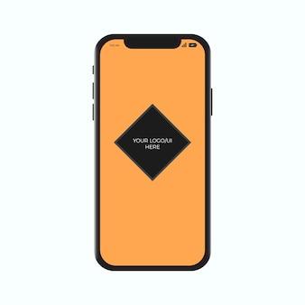 Iphone x現実的なモックアップテンプレートのスマートフォン