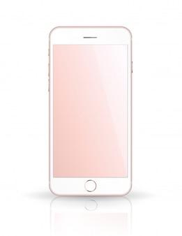 新しいリアルな携帯電話のスマートフォンiphoneスタイルのモックアップ