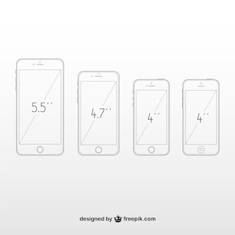 Iphones размеры comparation