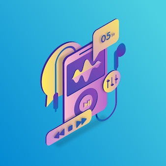 Ipod isometric illustration