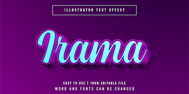 Irama, neon script стиль текста
