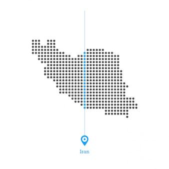 이란 도트지도 디자인 벡터
