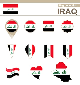 Iraq flag collection, 12 versions