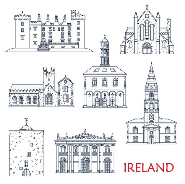 아일랜드 건축 랜드마크와 건물, 관광 아이콘 여행