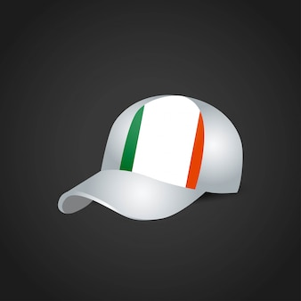 Ireland flag cap design vector