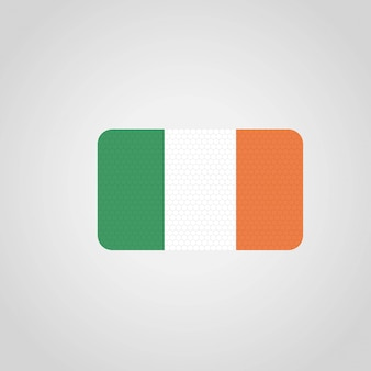 Ireland flag with creative design vector