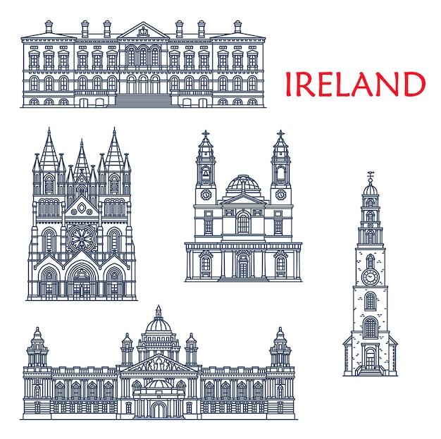 Ireland landmarks, architecture buildings of belfast and cork city