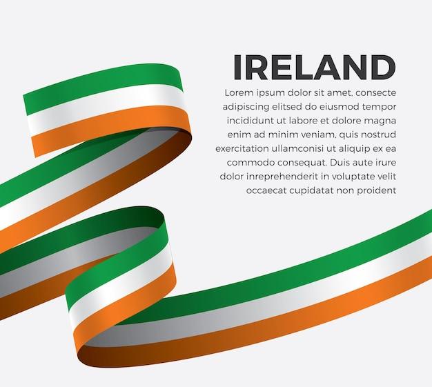 Ireland ribbon flag, vector illustration on a white background
