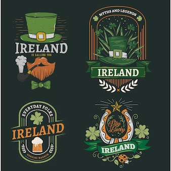 Ireland saint patrick vector pack