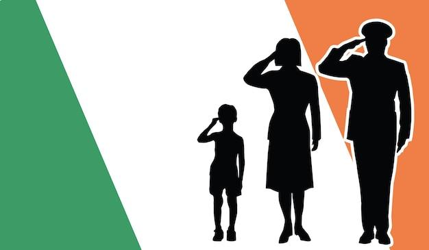 아일랜드 군인 가족 경례 애국자 배경