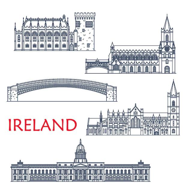 Ireland travel landmarks and architecture, dublin buildings