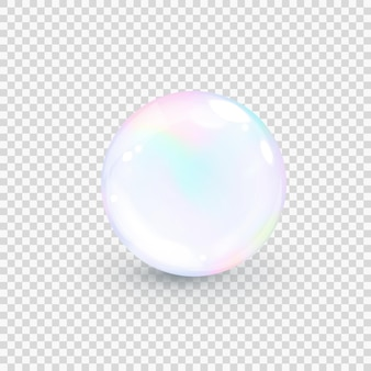 Радужный жемчужный пузырь изолированные