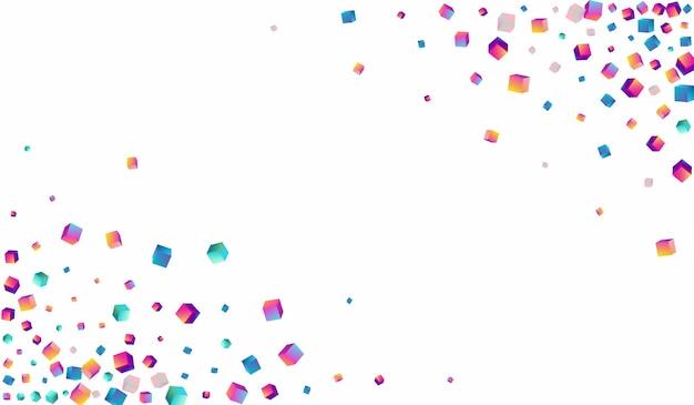 虹色の菱形ベクトル白い背景。ホログラフィックビジネス要素の画像。グラフィックレンガパターン。明るい紙吹雪の光沢のあるテンプレート。