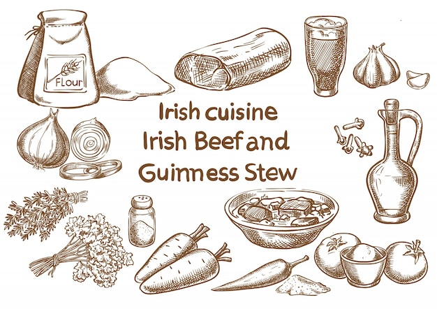 Irish beef and guinness stew ingredients
