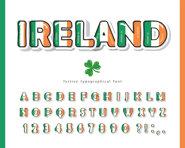 Irish font for st. patrick's day.