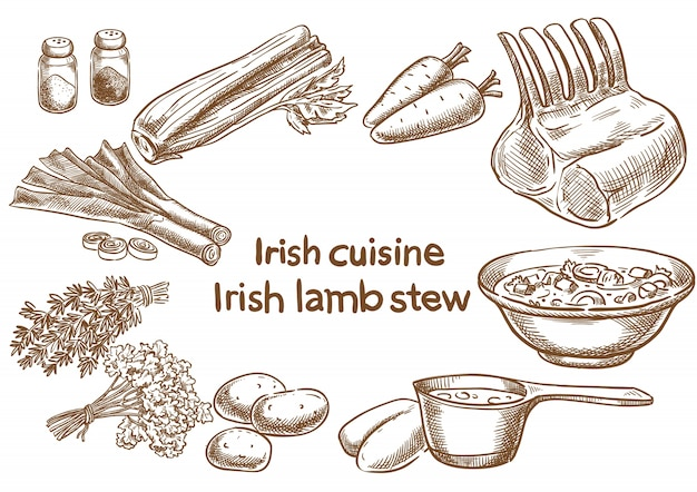 Irish lambstew ingredients.