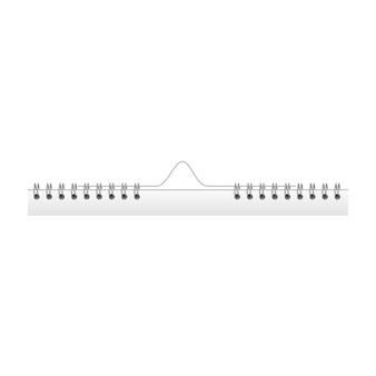 Железная спираль для бумажных листов Premium векторы