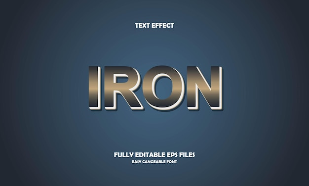 Iron text effect