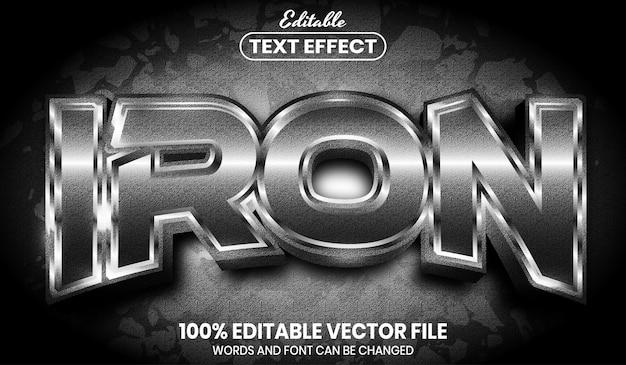 Железный текст, редактируемый текстовый эффект в стиле шрифта