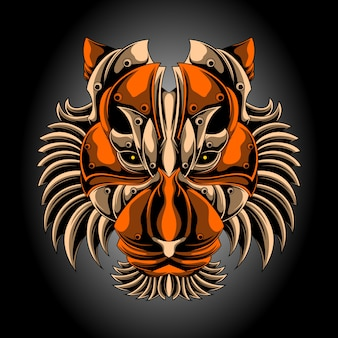 Iron tiger head
