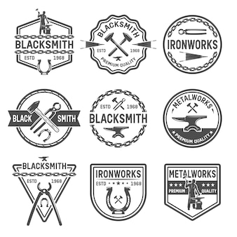 Ironworks black emblems