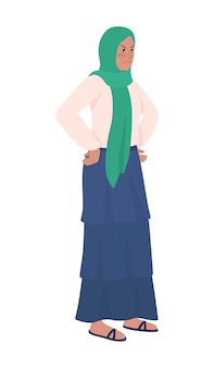 Раздраженная женщина полу плоский цветной векторный характер