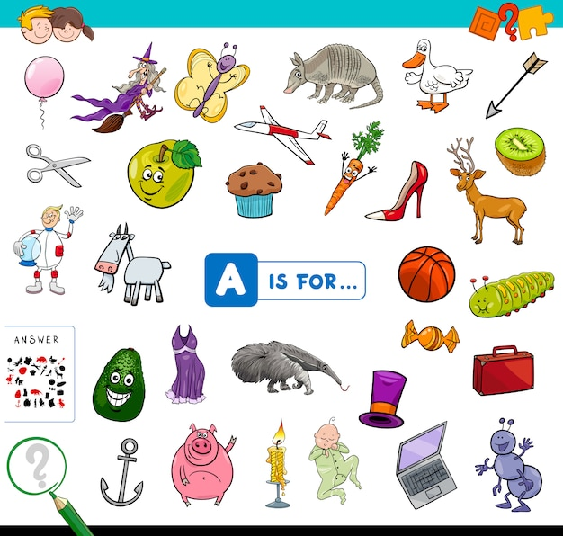 A is for educational game for children