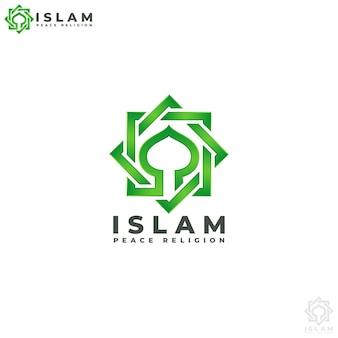 Islam - peace religion logo template