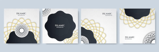 이슬람 추상적인 배경입니다. 왕실 황금 아라베스크 아랍 이슬람 동쪽 스타일의 배경이 있는 고급 만다라