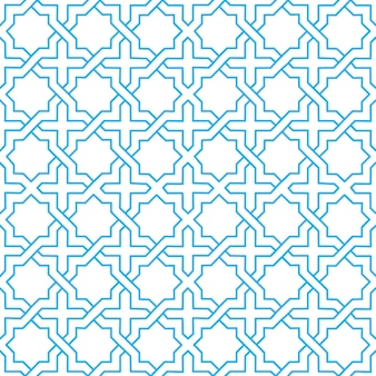 印刷およびファッションデザインのためのイスラムの抽象的な装飾パターンデザインの使用