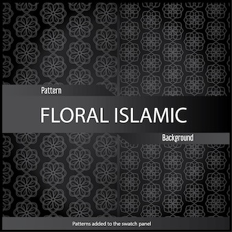 Islamic abstract ornament pattern design use for print and fashion design with black color.