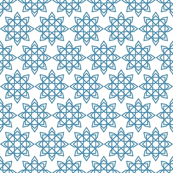 Islamic abstract ornament seamless pattern, arabic geometric ornament for background