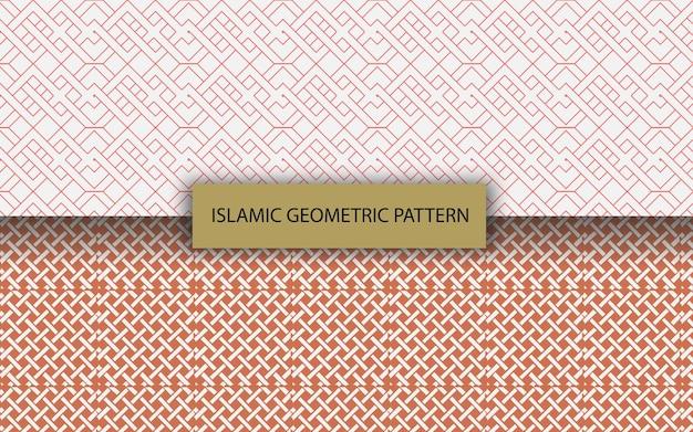 Коллекция исламских арабских красочных геометрических роскошных узоров