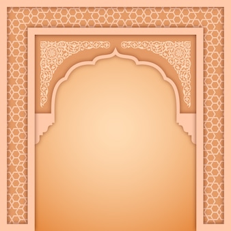 Islamic arch design template