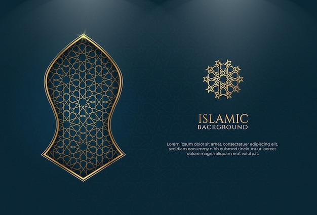 Islamic background golden ornament