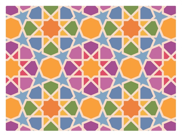 Islamic background. mosaic pattern.