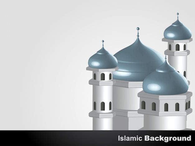 Islamic background with 3d mosque