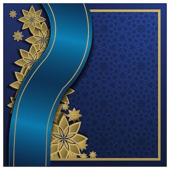 아름 다운 꽃 패턴으로 이슬람 배경