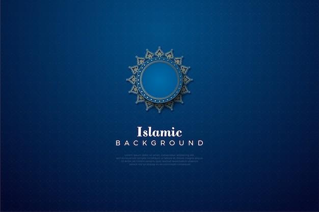 エレガントな小さな円の飾りとイスラムの背景。