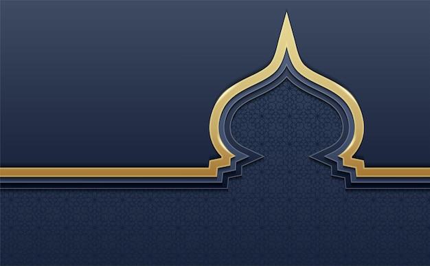 黄金のドームとイスラムの背景