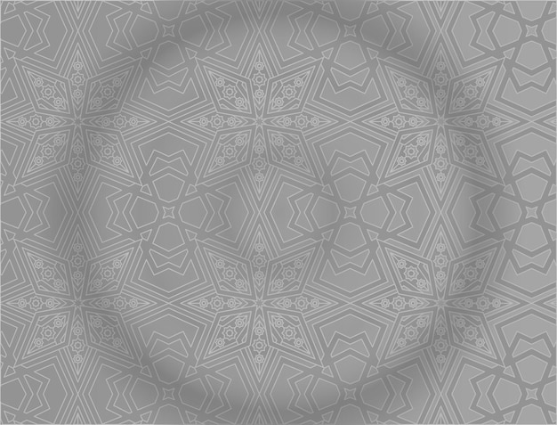 Islamic background with gray pattern