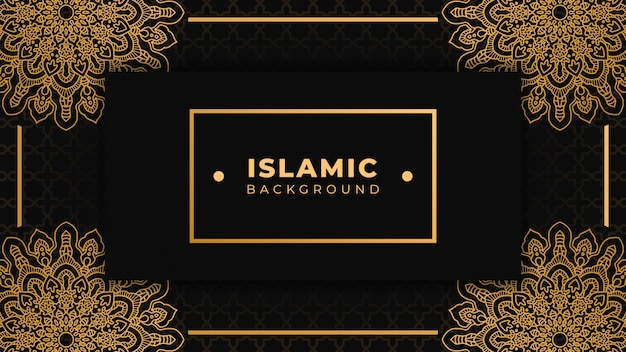 Islamic background with mandala islamic ornamental design