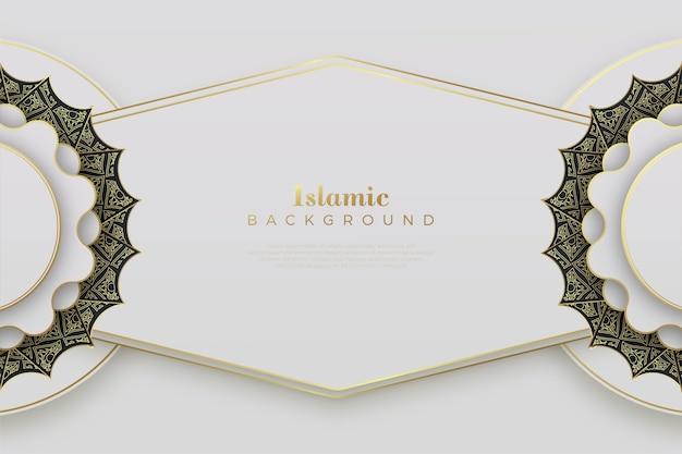 순수한 흰색 장식으로 이슬람 배경입니다.