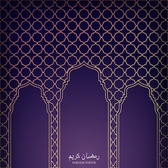 Islamic background with three golden gates.