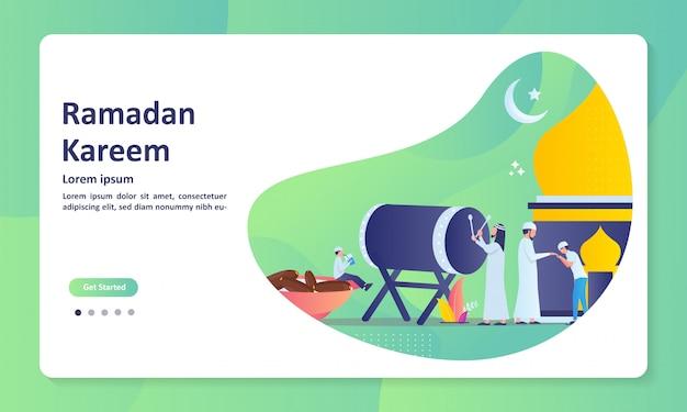 Islamic concept for happy eid mubarak banner