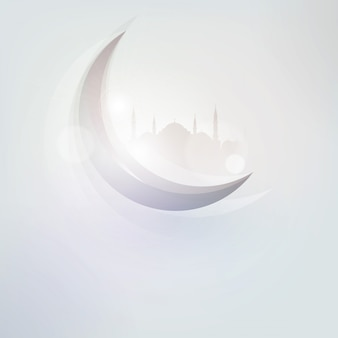 Islamic crescent icon greeting card