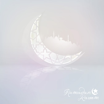 Islamic crescent icon for ramadan kareem